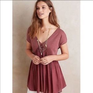Anthropologie Meadow Rue Quincy Tunic Tee